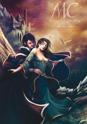 Croisade des Carpathes - illustration de couverture de roman - Editions Heron d'Argent - Mathieu Coudray