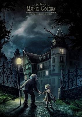 Doudou et Dentier - illustration de couverture jeu de rôle pour JDR Editions - Mathieu Coudray
