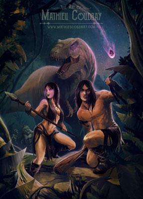 Zore - illustration de couverture jeu de rôle pour JDR Editions - Mathieu Coudray