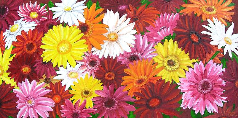 Bunte Gerbera - sag es durch die Blume