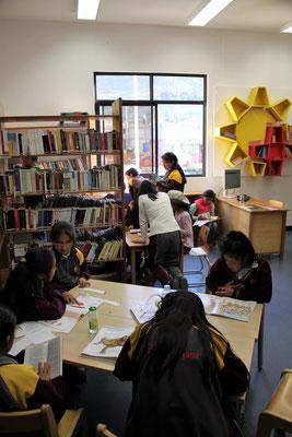 Es ist eine große Freude, die Schüler in den Büchern schmöckern zu sehen.