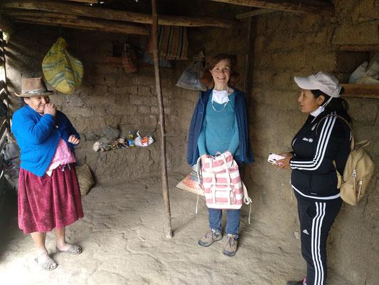Utas Kollegin Jenni hat uns beim ersten Besuch begleitet, um übersetzen zu können.
