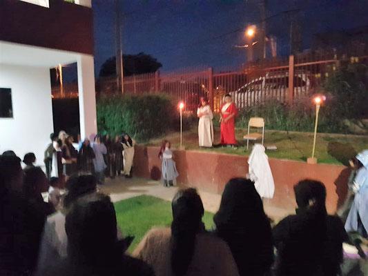 Nachdem Jesus festgenommen wurde, ging es zu Pilatus.