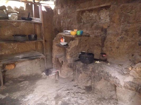 Ein letztes Meerschweinchen (links) läuft noch durch die spärlich eingerichtete Küche.
