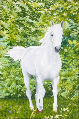 Free in peace and joy. Painted by Marian van Zomeren- van Heesewijk with acrylpaint on linen 120 x 80 cm.