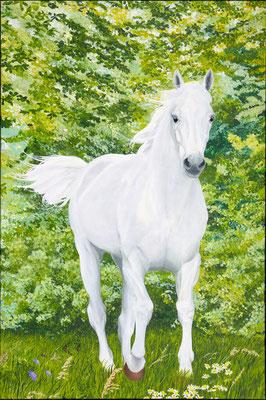 In peace and joy feeling free. Painted by Marian van Zomeren- van Heesewijk with acrylpaint on linen 120 x 80 cm.