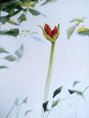 """2000"""" Beginnersmind"""" painted by Marian van Zomeren- van Heesewijk with acrylic paint on a panel 60 x 80 cm."""