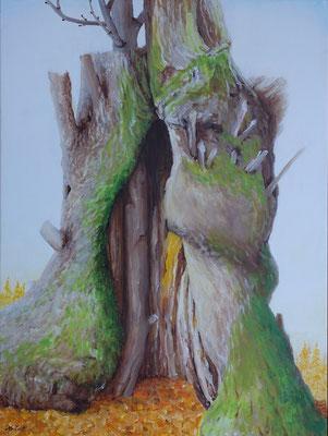 "2015   ""Intentie I"".    Acrylic-paint on linen 60 x 80 cm. cm."