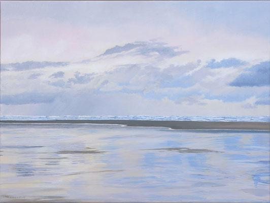 "2019""Every moment is different"" painted by Marian van Zomeren- van Heesewijk with acrylpaint on linen 60 x 80 cm."