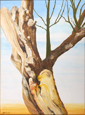 "2016"" Intentie II"". Acrylic-paint on linen 30 x 40 cm."