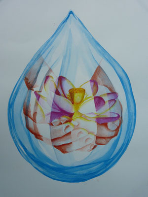 2011  Water-colour 50 x 70 cm.