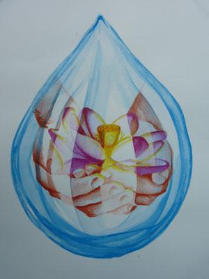 2011  Water-colour 50 x 70 cm.