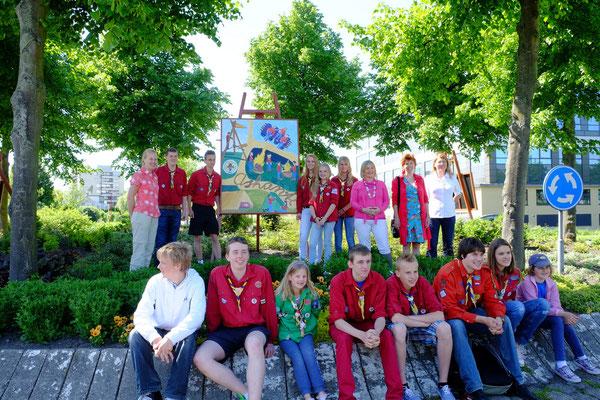 2013 geschilderd door de verkenners van de Ashanti scouting groep met begeleiding van Marian van Zomeren- van Heesewijk