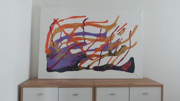 Atelier Henrietta - Gemälde Steinböcke 130x90 cm