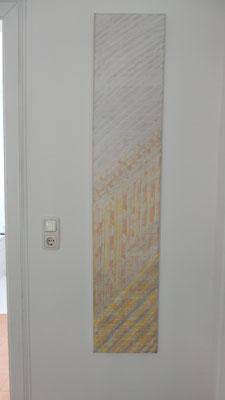 Acrylgemälde Hochformat 30x150 cm