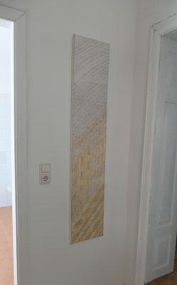 Ein zart gemustertes Wandbild gut für Nischen geeignet