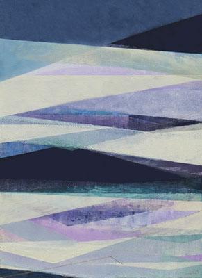 『月の影』(1100mm×800mm/キャンバスに油彩・インク)