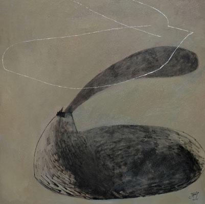 『鳥たち』(1167mm ×1167mm/キャンバスに油彩)