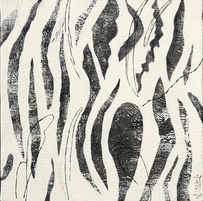 『野の語らい』キャンバスにアクリルガッシュ・ペン/273mm×273mm