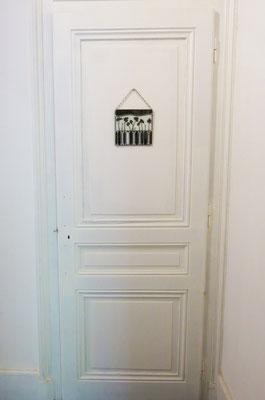Déco de porte : coquelicots env. 15 x 20 cm