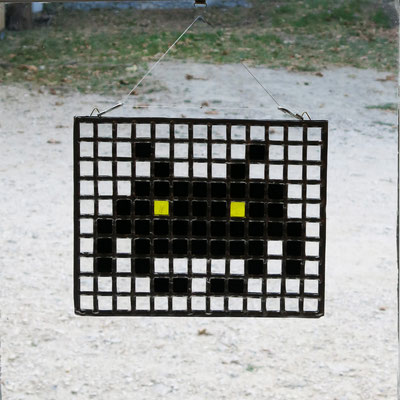 "Sun catcher ""Space Invader"" , 35x20cm"