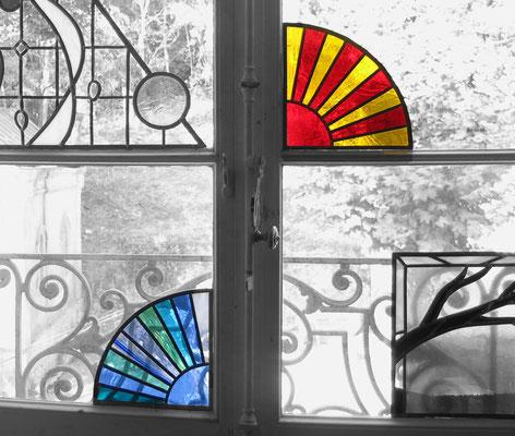 2 coins de fenêtre 21x21 cm