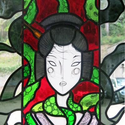 Geisha - Belly Button by L'âme et les ailes (détail)