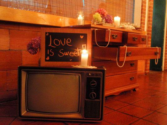 mesa de dulces boda vintage
