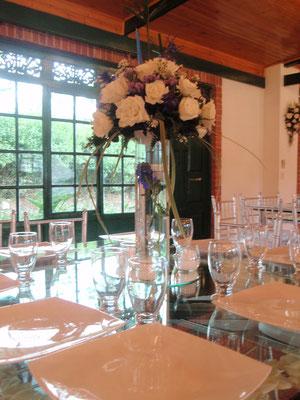 Decoración matrimonio con rosas en cajicá