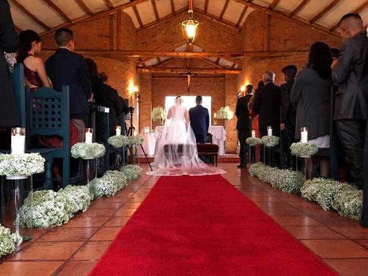 Decoración boda en Hacienda Santibella