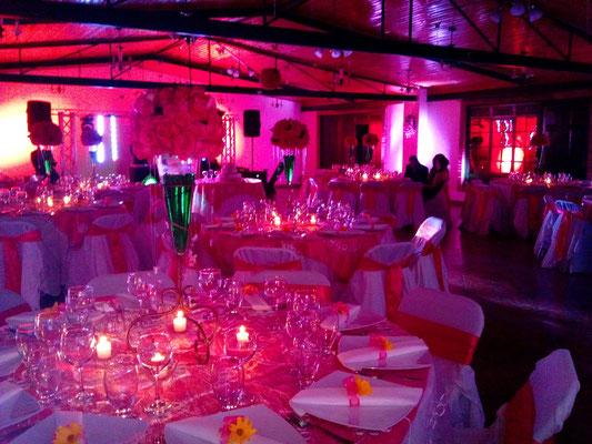 salón decorado para recepción matrimonio en Cajicá