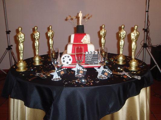 torta 15 años tema premios Oscar en Cajicá