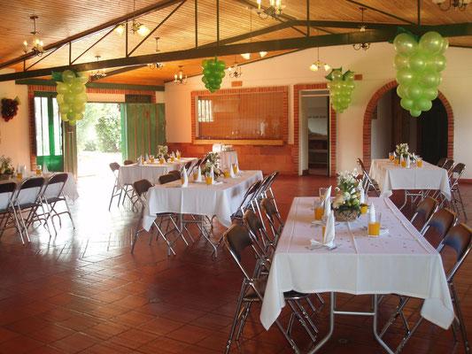 Salón para primera comunión en Cajicá