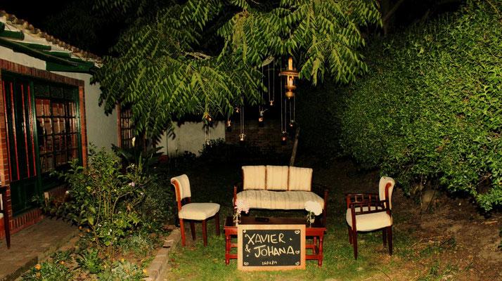 sala vintage para matrimonio