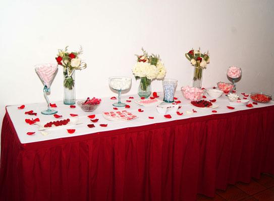 mesa de dulces para matrimonio en Cajicá