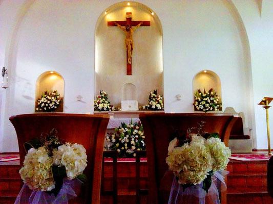 decoración iglesia de calahorra en cajicá
