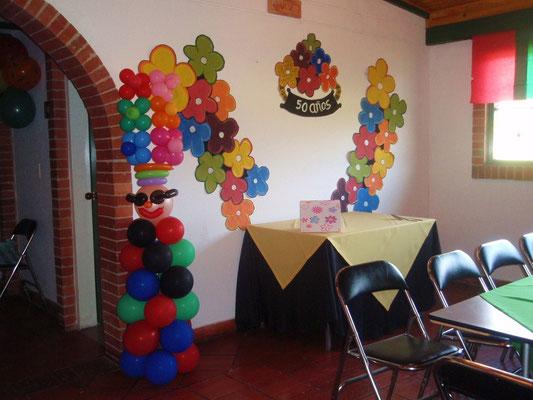 recepción fiesta de cumpleaños