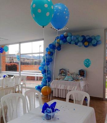 Decoración con globos baby shower Cajicá Chía Bogotá