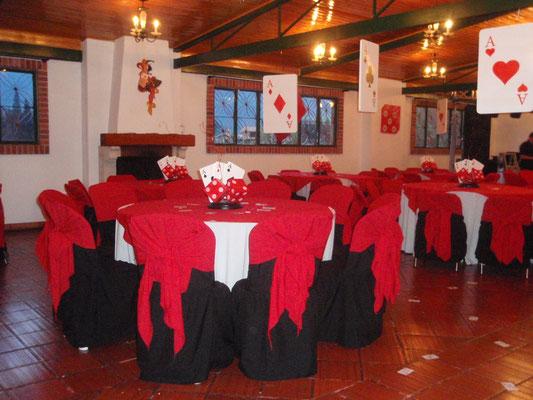 Decoración fiesta temática casino en Cajicá