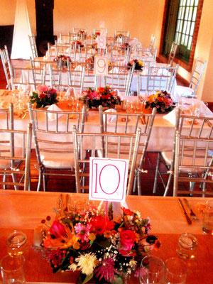 Decoración boda con flores