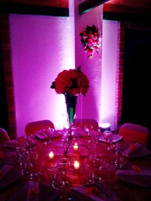 decoración con velas e iluminación Cajicá