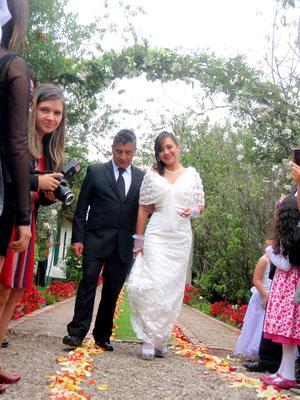 Decoración matrimonio con flores en cajicá