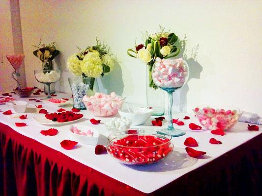 mesa de dulces para boda en cajicá