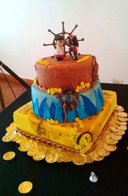 Torta temática piratas