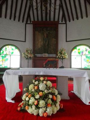Parroquia San José de Río grande Cajicá decoración de boda