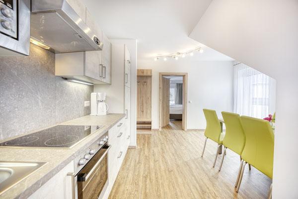 Küchenzeile mit Essbereich Fewo Typ C