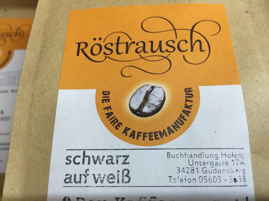Kaffee Röstrausch regional gebrannt in Gudensberg