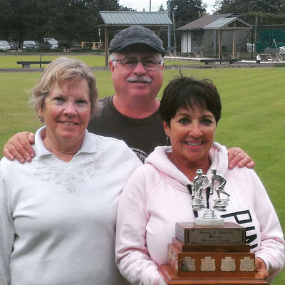 Champions Sue Duransky, Jim Demers, and Louise Vitale
