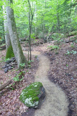 Finished trail, Lenox, MA, 2013 (Prime project contractor: Peter S. Jensen, LLC)