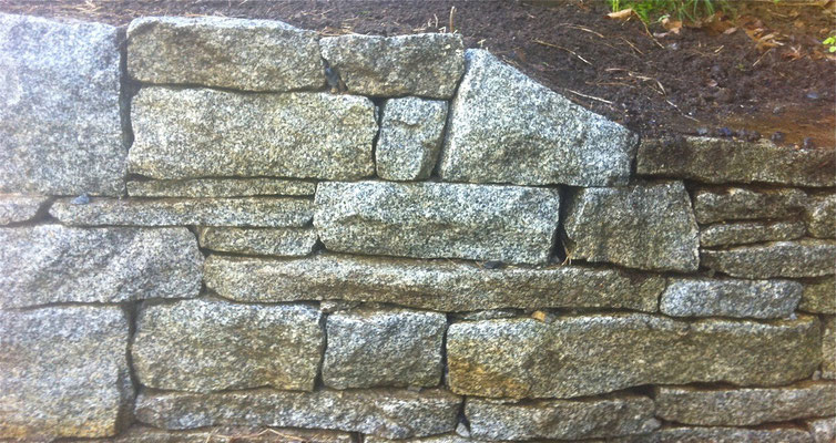 Retaining wall detail, Belgrade, ME, 2012